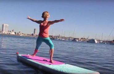 Cvičíme paddle jógu