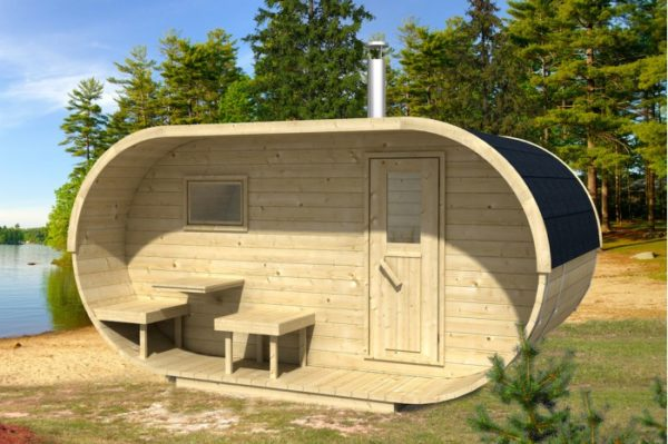 Oválná sauna 400 thermowood