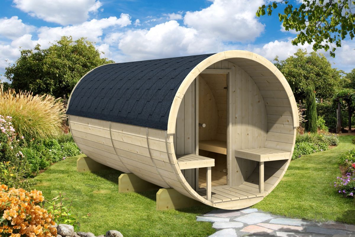 Sudová sauna 330 terrras thermowood
