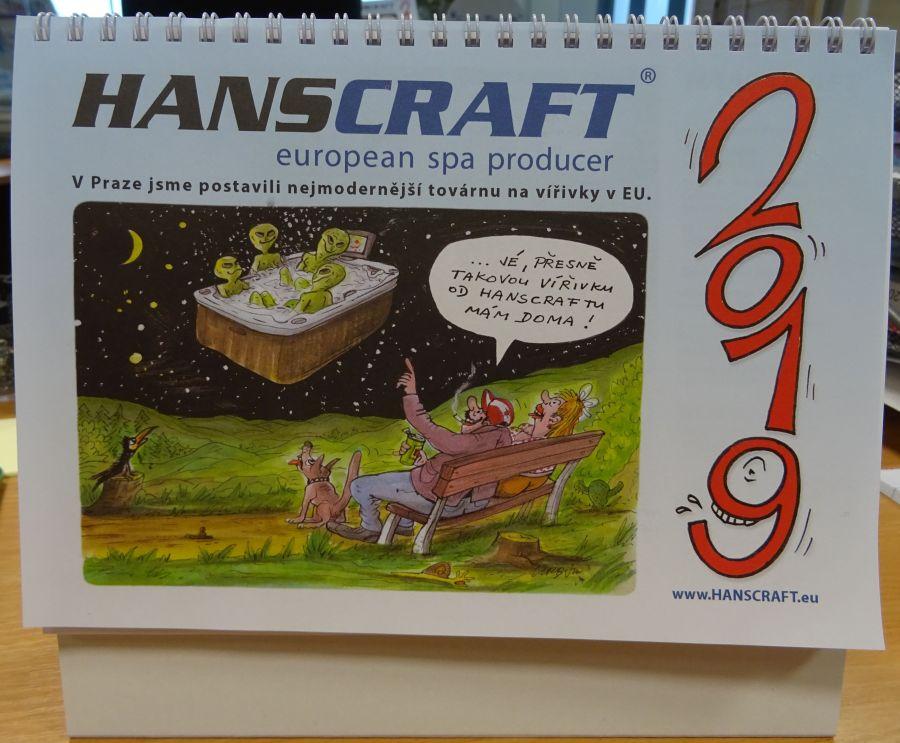 Kalendář HANSCRAFT 2019 od Pivrnce